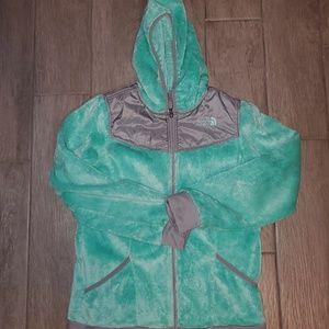 Girls North Face zip up hood